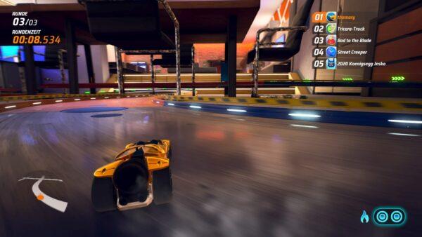 Der Screenshot zeigt einen Drift in Hot Wheels Unleashed in einer Kurve.