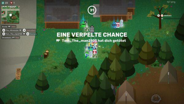 """Auf dem Screenshot sieht man die Anzeige nach dem Tod. Das Spiel zeigt hier an: """"Eine verpelte Chance""""."""