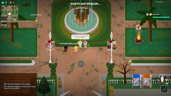 Auf dem Screenshot sieht man die Texte des Spieles, die zu klein dargestellt werden, hier in einem Dialog.